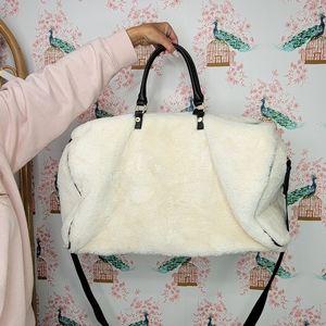 Steve Madden Weekender Duffle Bag Fuzzy
